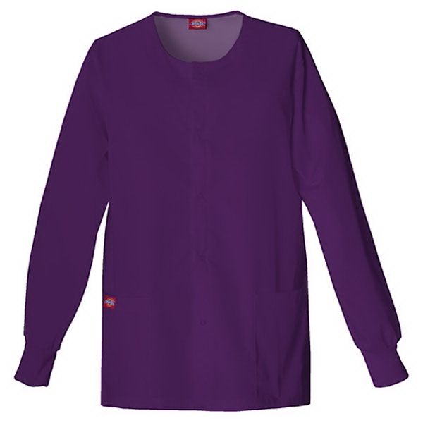 Dickies (r) - Eggplant - Sa885306 Round Neck Scrub Jacket Sa885306 - 20 Colors Available Photo