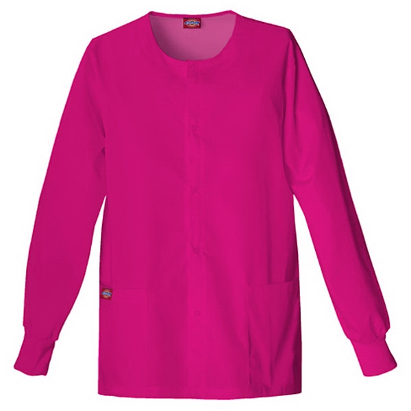 Dickies (r) - Hot Pink - Sa885306 Round Neck Scrub Jacket Sa885306 - 20 Colors Available Photo