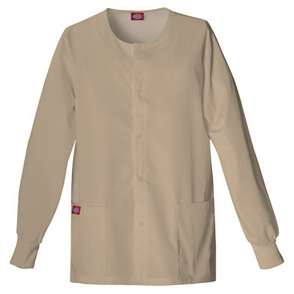 Dickies (r) - Khaki - Sa885306 Round Neck Scrub Jacket Sa885306 - 20 Colors Available Photo