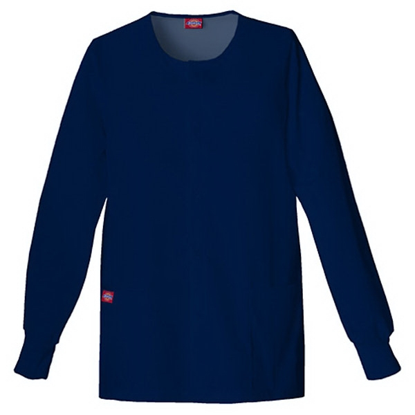 Dickies (r) - Navy - Sa885306 Round Neck Scrub Jacket Sa885306 - 20 Colors Available Photo