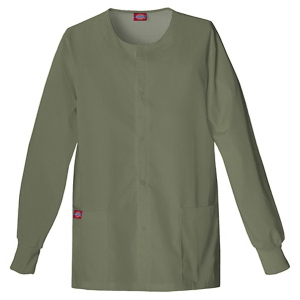 Dickies (r) - Olive - Sa885306 Round Neck Scrub Jacket Sa885306 - 20 Colors Available Photo
