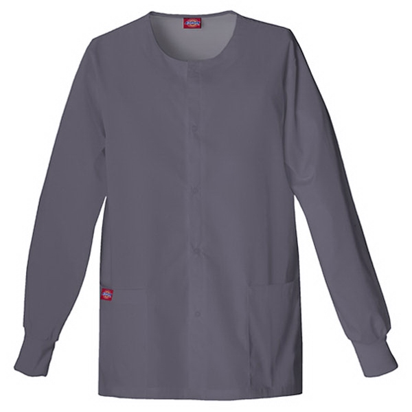 Dickies (r) - Pewter - Sa885306 Round Neck Scrub Jacket Sa885306 - 20 Colors Available Photo