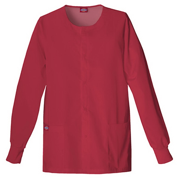 Dickies (r) - True Red - Sa885306 Round Neck Scrub Jacket Sa885306 - 20 Colors Available Photo