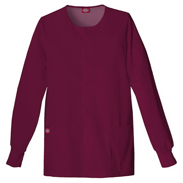 Dickies (r) - Wine - Sa885306 Round Neck Scrub Jacket Sa885306 - 20 Colors Available Photo