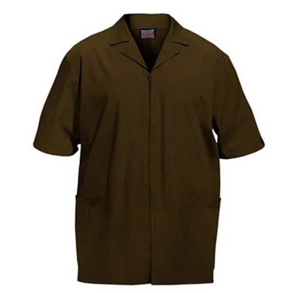 Cherokee - Chocolate - Sa4300 Men's Zip Front Scrub Jacket - 11 Colors Available Photo