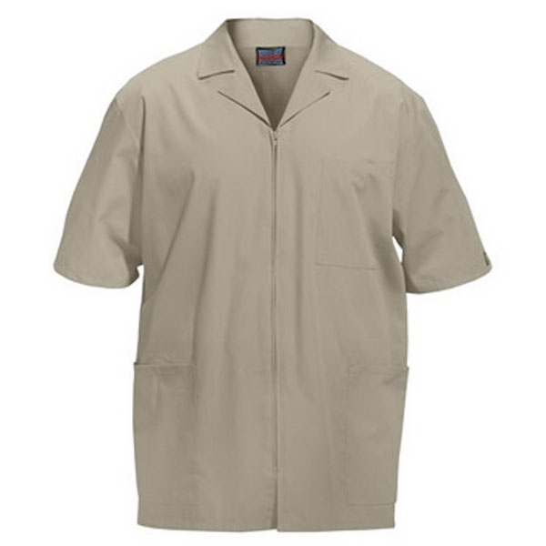 Cherokee - Khaki - Sa4300 Men's Zip Front Scrub Jacket - 11 Colors Available Photo
