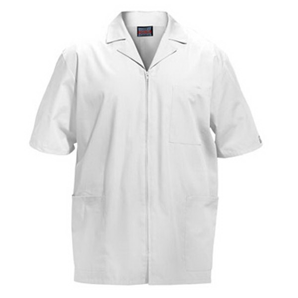 Cherokee - White - Sa4300 Men's Zip Front Scrub Jacket - 11 Colors Available Photo
