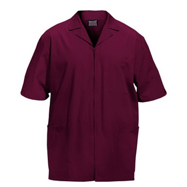 Cherokee - Wine - Sa4300 Men's Zip Front Scrub Jacket - 11 Colors Available Photo