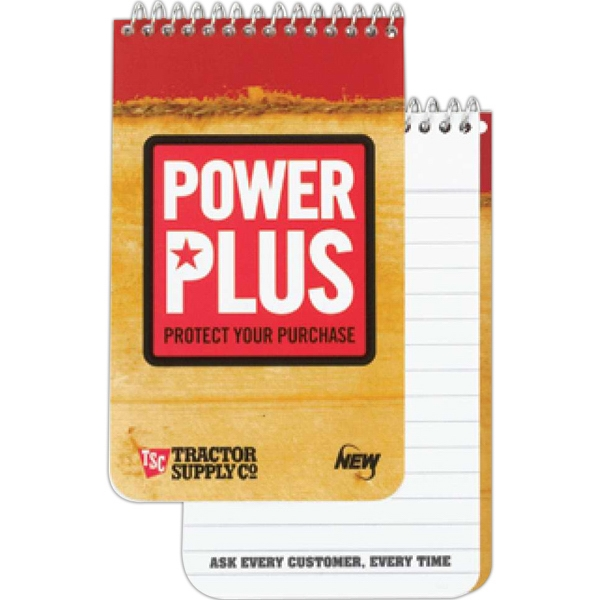 Pocket Coil 4-color Notebook With 10 Point Cover And 40 Ruled Sheets Photo