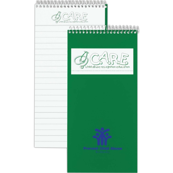 Reporter Notebook With White 15 Pt. Coated Front Cover And 40 Inside Sheets Photo