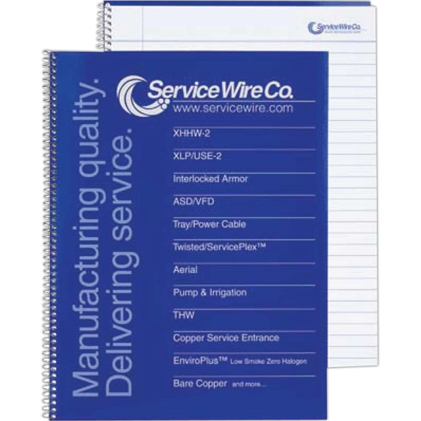 Composition Coil Notebook With 40 Ruled Sheets And Logo On Every Sheet Photo