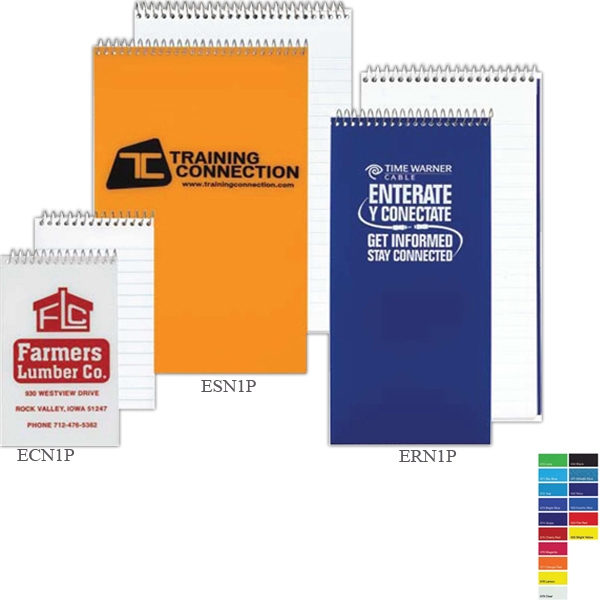 Econo - Pocket Notebook With 30 Pt. Polypropylene Cover, Coil Bound Side And Square Corners Photo