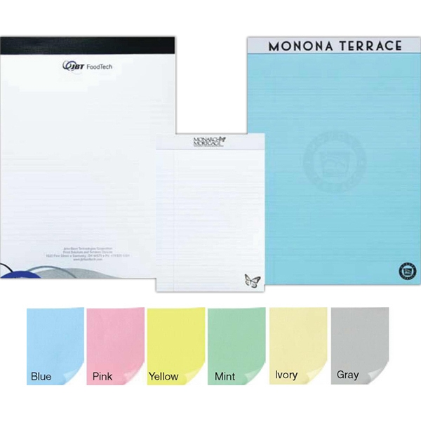 "Legal Pad With 30 Imprinted Perforated Sheets, 8 1/4"" X 11 3/4"" Photo"