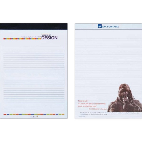 Full Color Legal Pad With 30 Perforated, Stapled Sheets Covered With Black Tape Photo