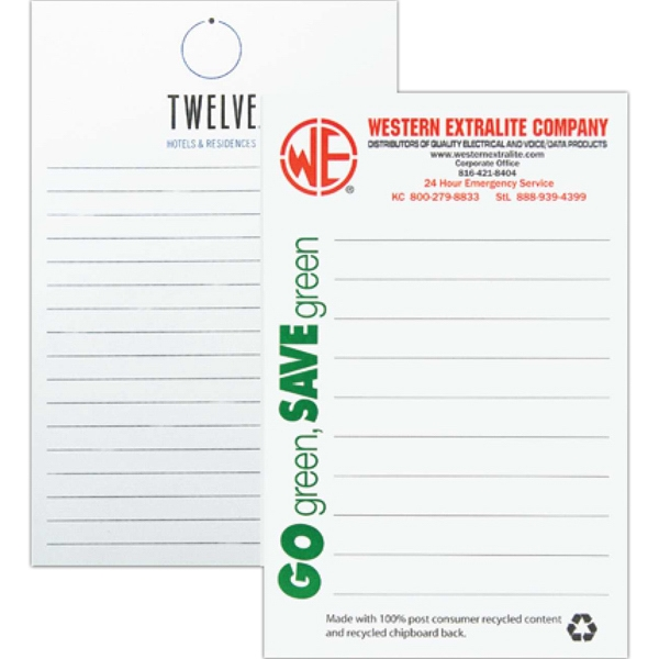 "5 3/8"" X 8 3/8"" - Recycled Scratch Pad With 100 Sheets Of 60 Lb. White Offset Paper Stock Photo"