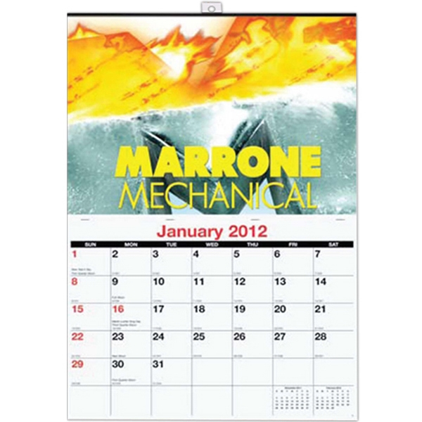 Single Image Custom Monthly Wall Calendar Photo