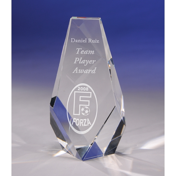 "Progress - Progress Crystal Award By Crystal World. 6"" Tall. Sp197 Photo"