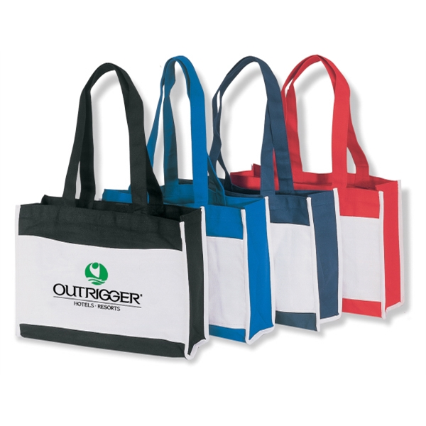 "Embroidery - Classic Two-tone Tote Bag With Top Velcro (r) Closure And 23"" Handles Photo"