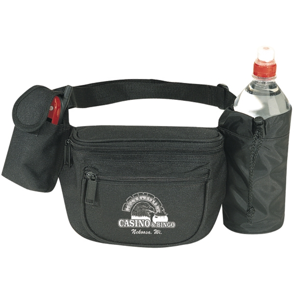 Three-in-one Fanny Pack With Bottle Holder, Cell Phone Pouch And Strap Photo