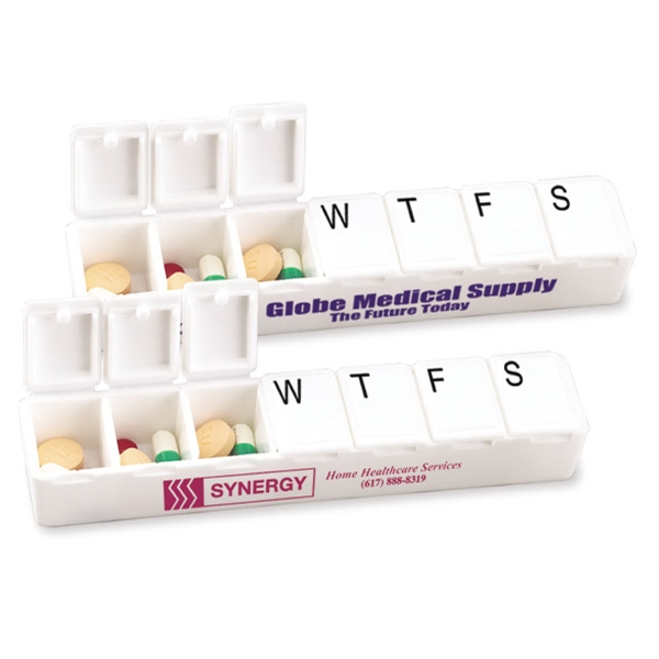 Carry Along All Week Pill Box Made Of Propylene With 7 Compartment Capacity Photo