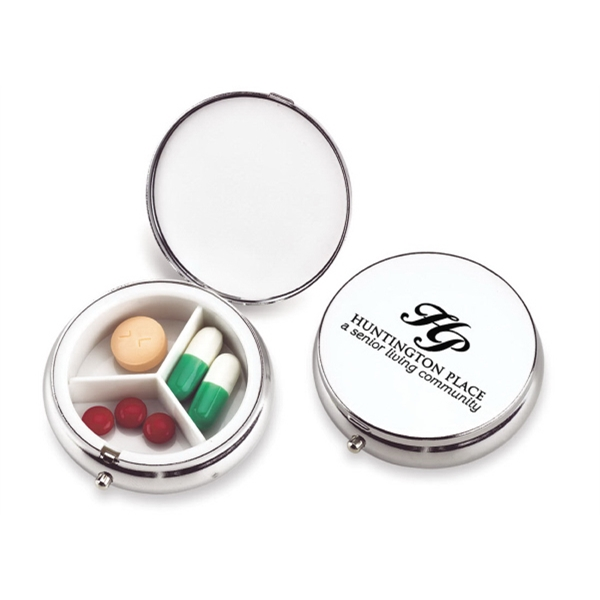 Formal Affair - Metal Pill Case With Bright, Polished, Chrome Finish Photo