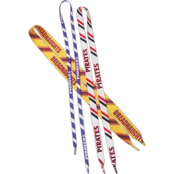 "Game Day - 54"" Length Printed Laces With 1 Color On A Color Photo"