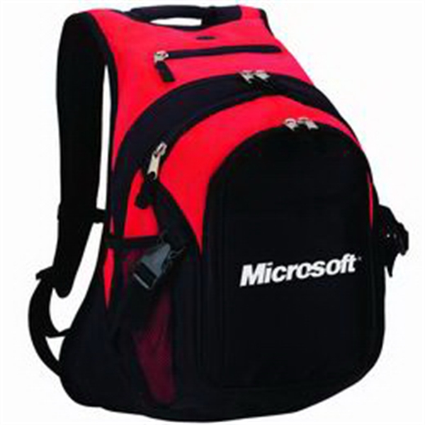 Polyester Computer Backpack With Heavily Padded Back And Shoulder Straps Photo