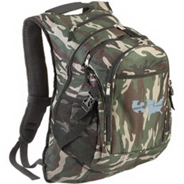Camouflage Computer Backpack With Heavily Padded Back And Shoulder Straps Photo