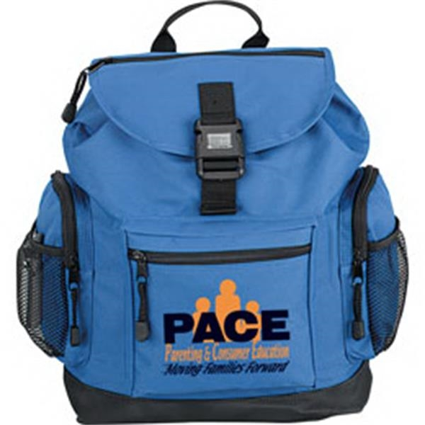 Backpack With Reflector Buckle Made Of 600 Denier Polyester Photo