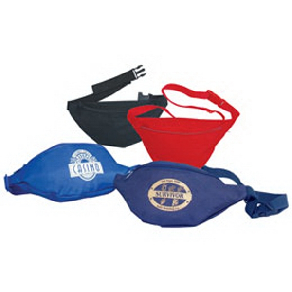 1 Zipper Fanny Pack - One Zipper Fanny Pack Made Of 600 Denier Polyester With Vinyl Backing Photo