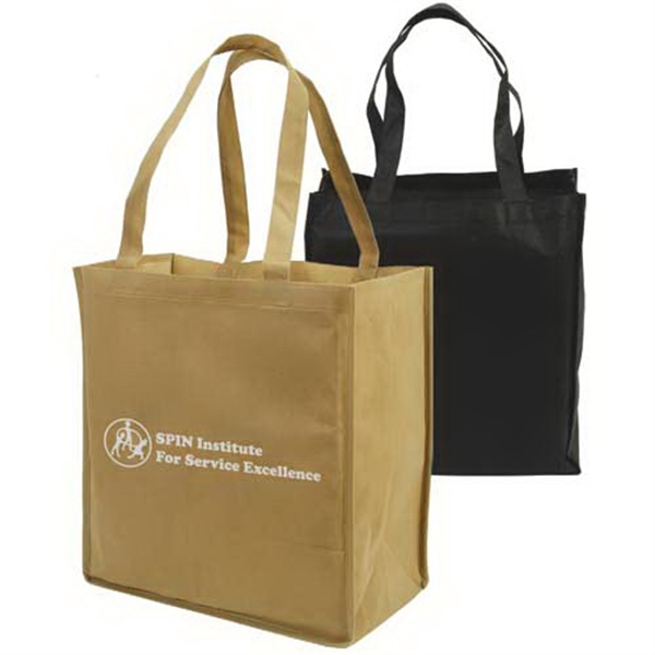 Non-woven Full-gusseted Shopping Tote Bag Photo
