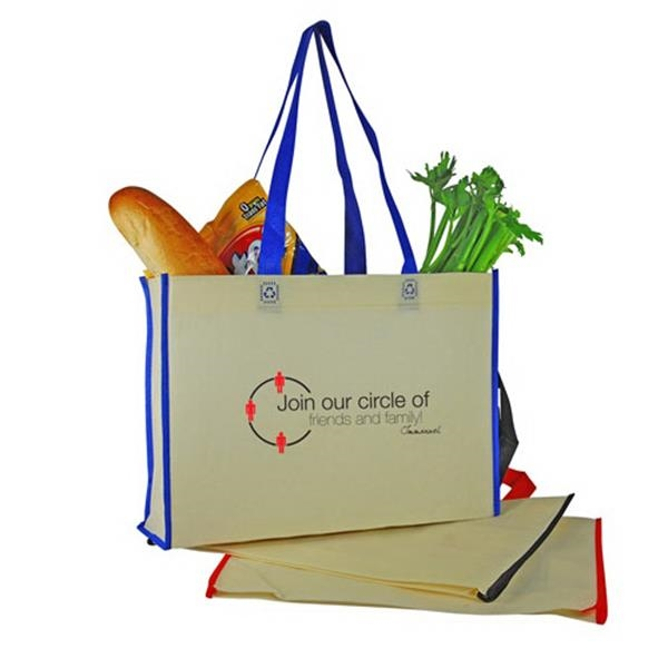 Two-tone Non-woven Shopping Tote Bag Photo
