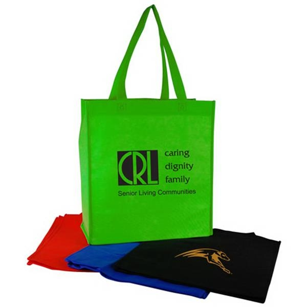 "Vertical Non-woven Shopping Tote Bag With 22"" Hand/shoulder Straps Photo"