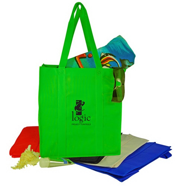 Non-woven Shopping Tote Bag With Cardboard Bottom Photo