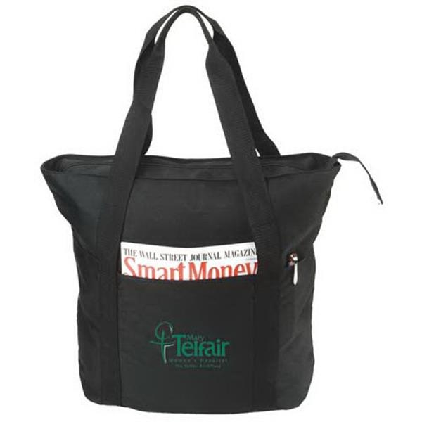 Eco-friendly Recycled Zippered Tote Bag Photo
