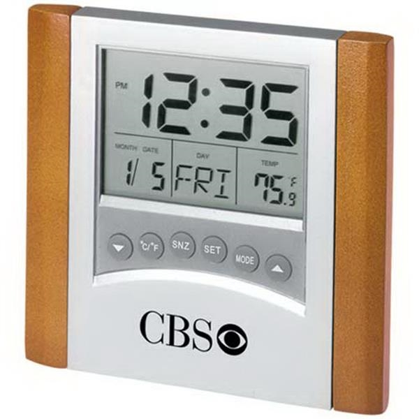 Digital Alarm Clock With Calendar And Thermometer Photo