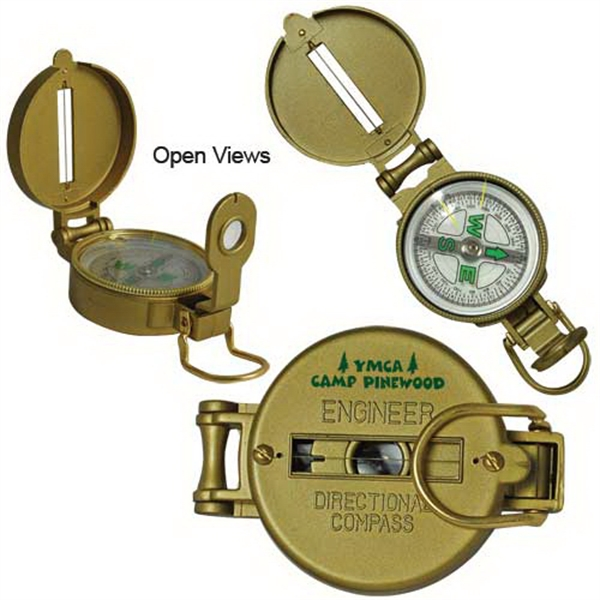 Metal Lensatic Compass Photo