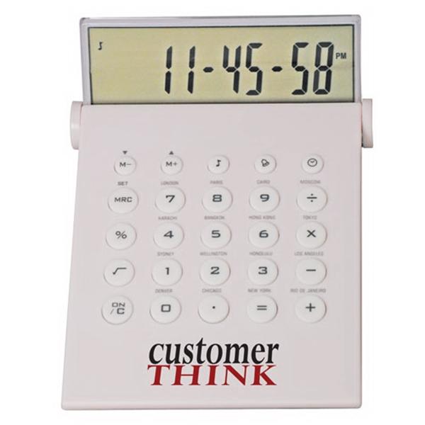 Desktop Calculator/World Time Alarm Clock in One
