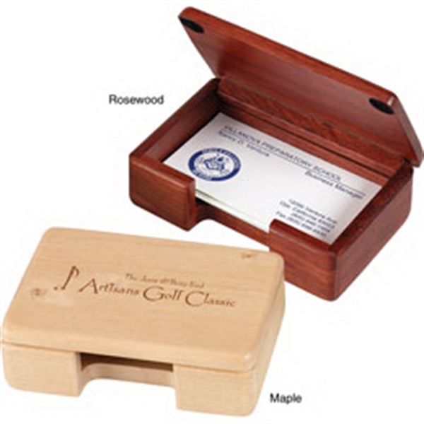Solid Wood Business Card Holder Photo