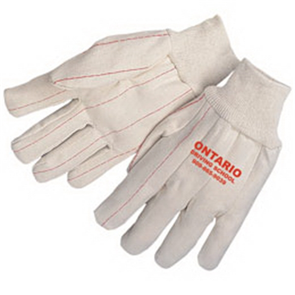Double Palm Canvas Gloves With Natural Wrist Photo