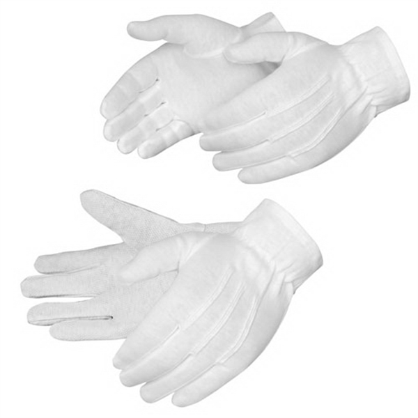 Formal White Dress Gloves, 100% Cotton, Blank Photo