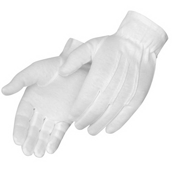 Formal White Dress Gloves With Snaps, Blank Photo