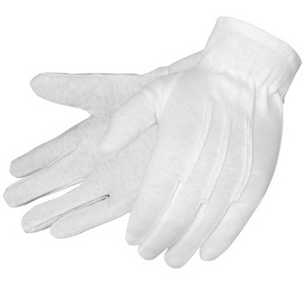 Formal White Dress Gloves With Pvc Dots, Blank Photo