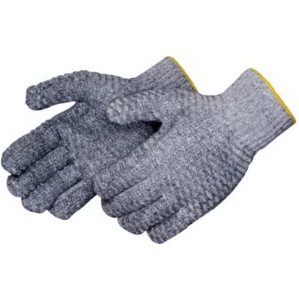 Blank, Gray Knit Glove. Features 2-sided Clear Pvc Honeycomb Photo