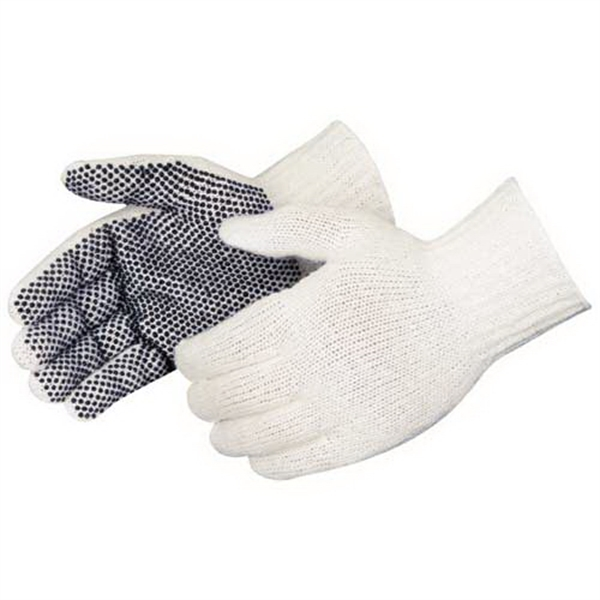 Blank Pvc Dotted Palm Cotton/polyester Gloves Photo