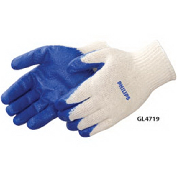 Blue Latex Palm Coated Gloves Photo