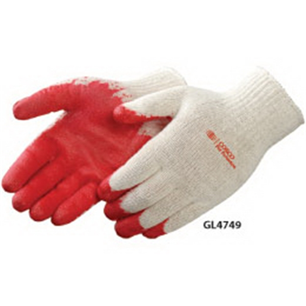 Red Latex Palm Coated Gloves Photo
