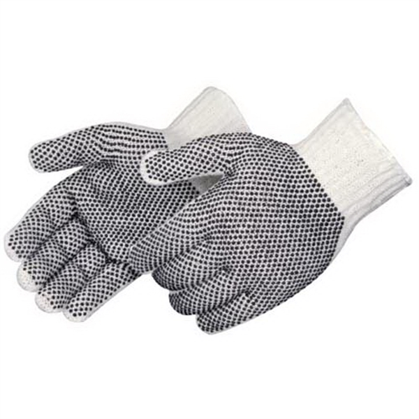 Blank, Cotton/polyester Gloves With Pvc 2-sided Pvc Dots Photo