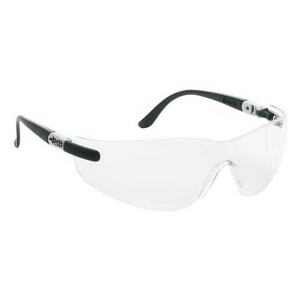 Clear Anti-fog Lens. Wrap-around Safety Glasses With Ratchet Temples Photo