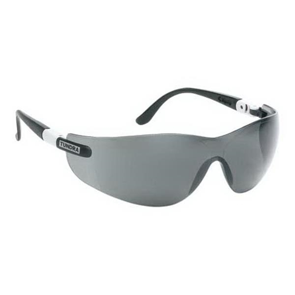 Wrap-around Safety Glasses With Ratchet Temples And Gray Lens Photo